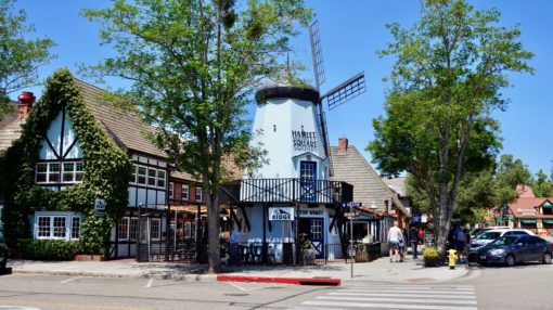 Danish windmill in Solvang, Santa Ynez Valley, USA