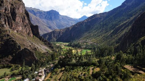 Beautiful scenery in Ollantaytambo, Peru