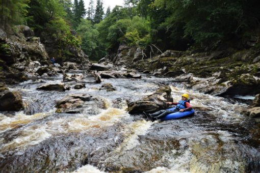 Tubing with ACE Adventures on the River Findhorn, Scotland