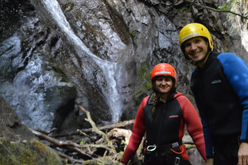 Andrew and Me Canyoning with ACE Adventures in Scotland