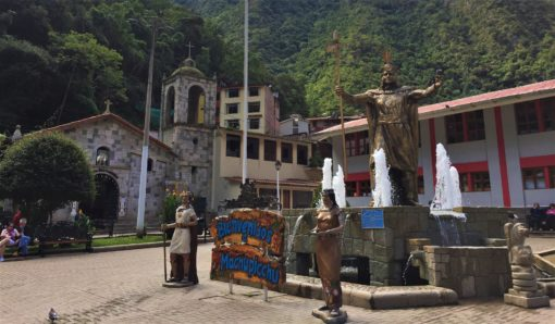 Aguas Calientes' main square, Peru