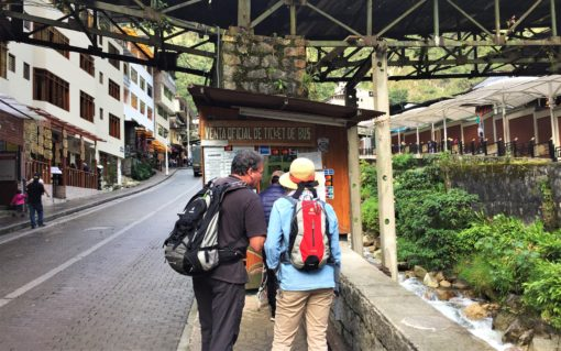 This is where to buy you bus tickets for Machu Picchu