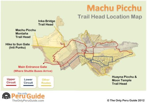 machu picchu trailhead map