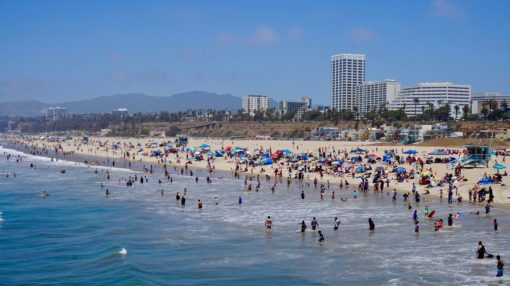 View of Santa Monica from the Pier