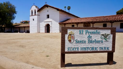 Historic Spanish Colonial building in Santa Barbara, California