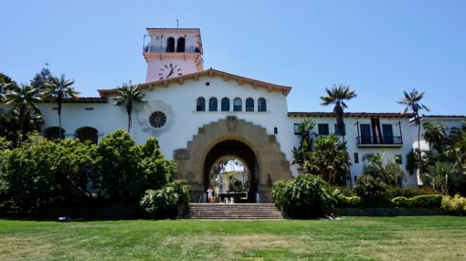 Santa Barbara courthouse, California