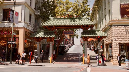 Chinatown in San Francisco in California
