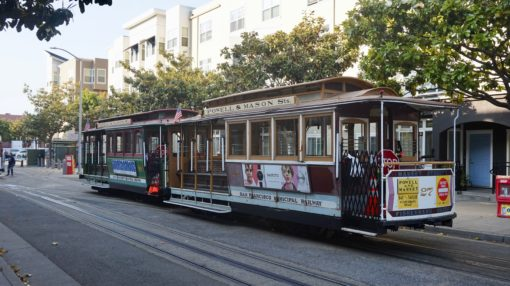 Traditional cable car in San Francisco