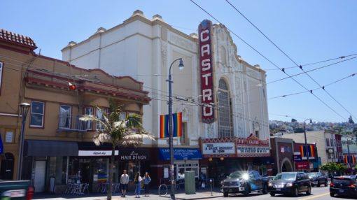 The Castro theatre in the Castro District of San Francisco