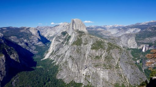 View over Yosemite from Glacier Point, California
