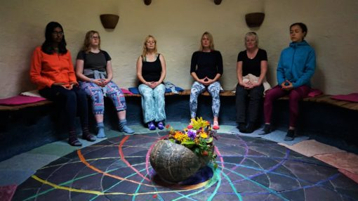 Meditation room at the Findhorn Foundation in Scotland