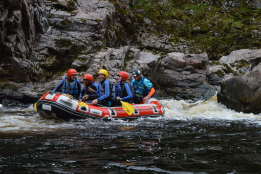 White water rafting with ACE Adventures on the Findhorn