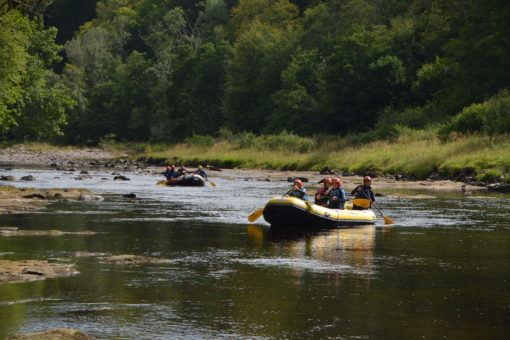 White water rafting on the Scottish adventure yoga retreat