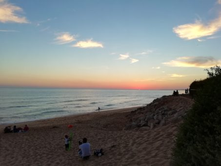 Sunset at Vale do Lobo Beach, Portugal