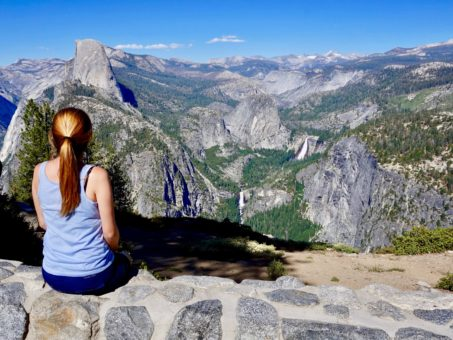 Amy overlooking Yosemite National Park