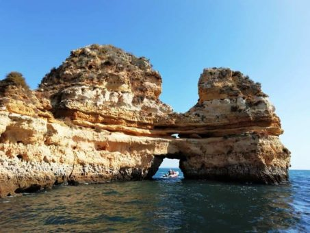 Boat trip along the Ponta de Piedade, Algarve