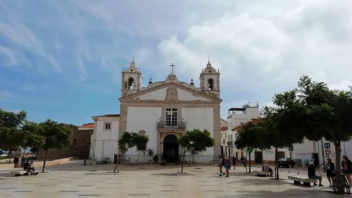White church in Lagos, Portugal