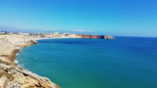 Rugged coastline in the western Algarve, Portugal