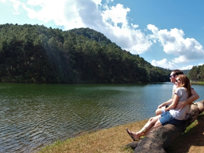 Us at Pang Ung reservoir, northern Thailand