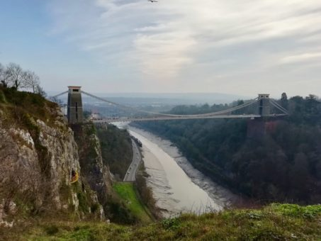 Bristol's Clifton Suspension Bridge looking great in the rare February sunshine