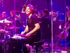Zac Hanson on the drums
