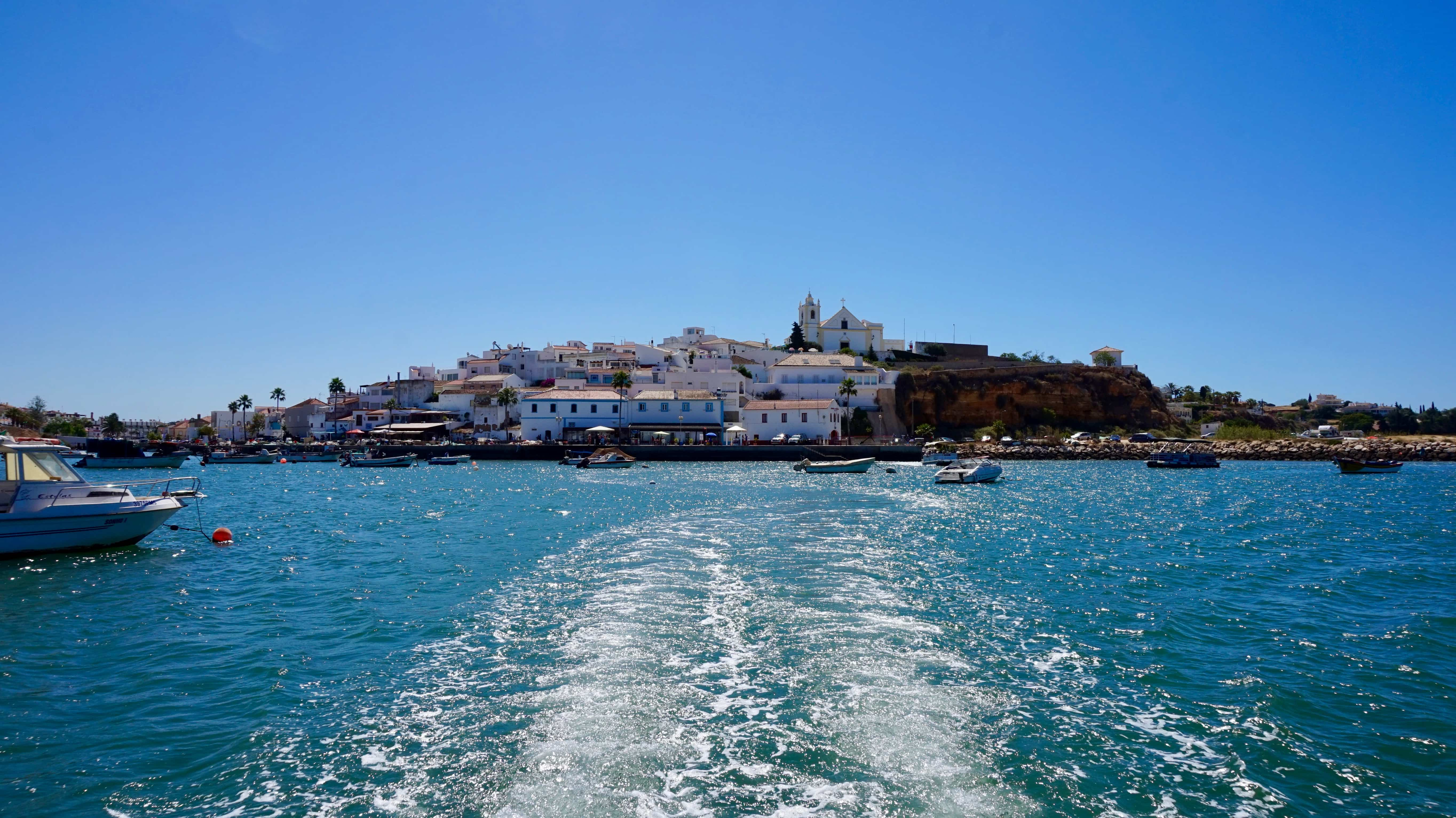 Boat trip along the coast in the Algarve, Portugal