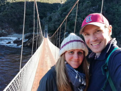 Us in Garden Route National Park, South Africa