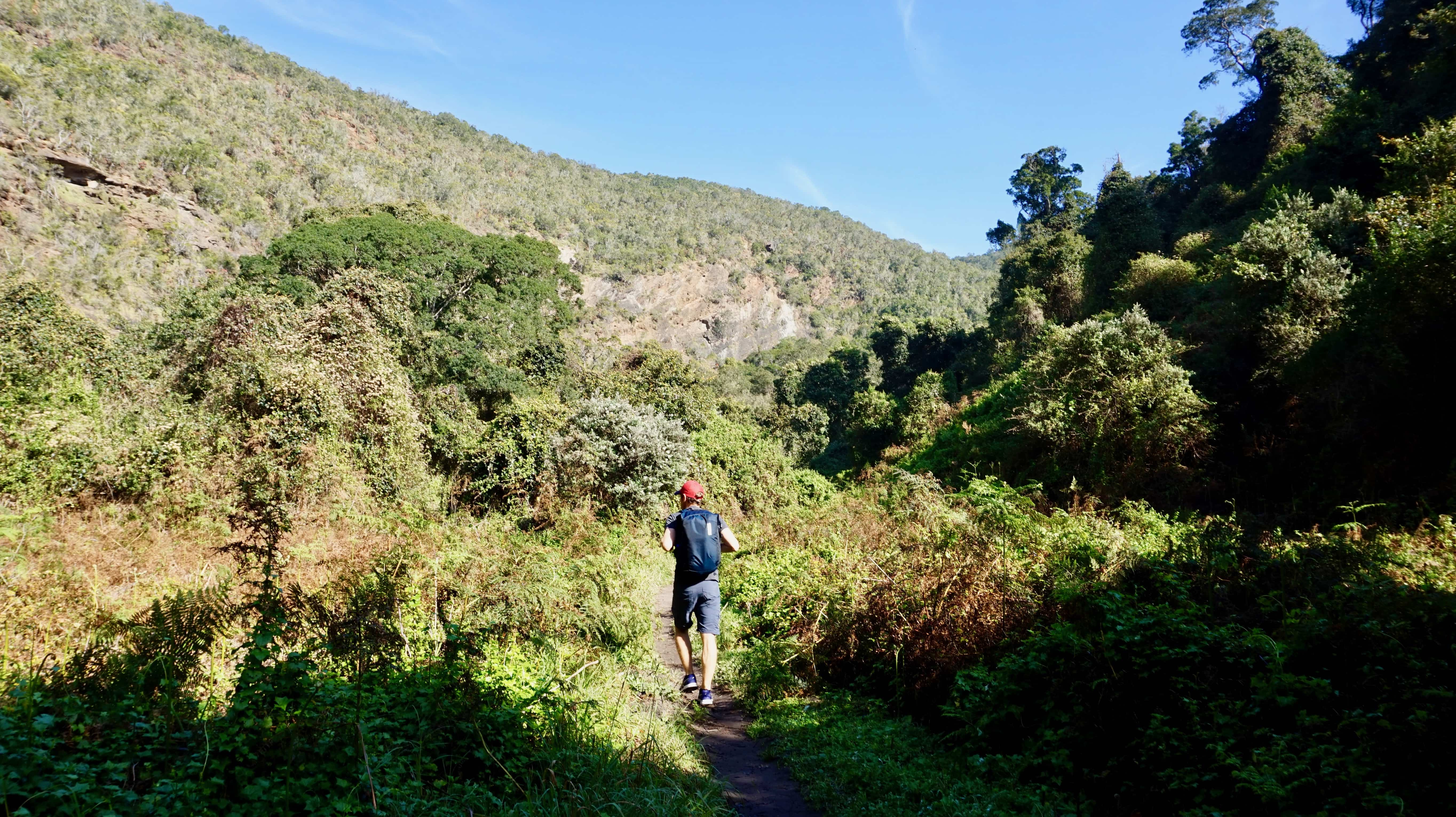 Andrew hiking in Garden Route National Park, South Africa