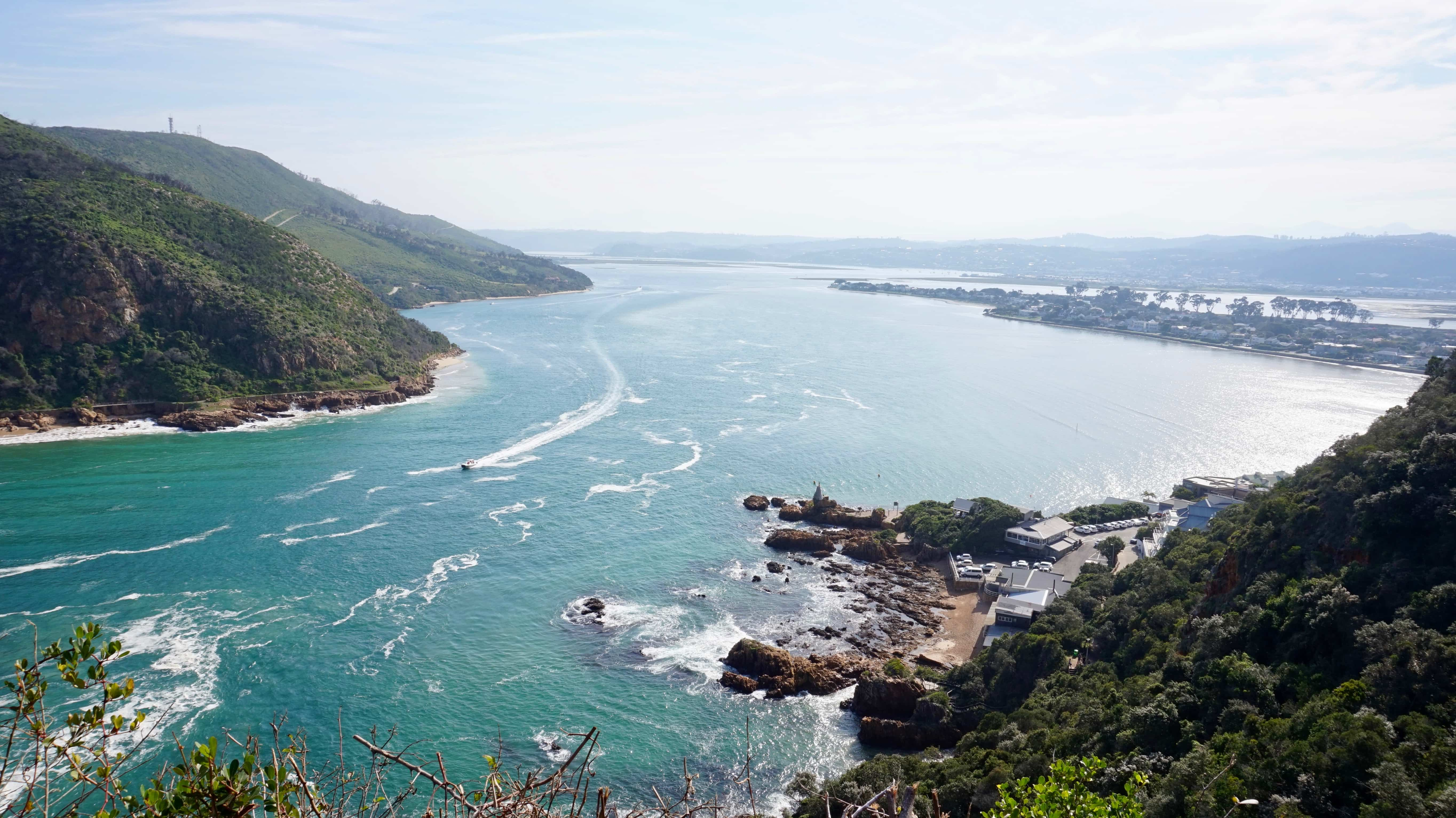 View from East Head over the sea in Knysna, South Africa