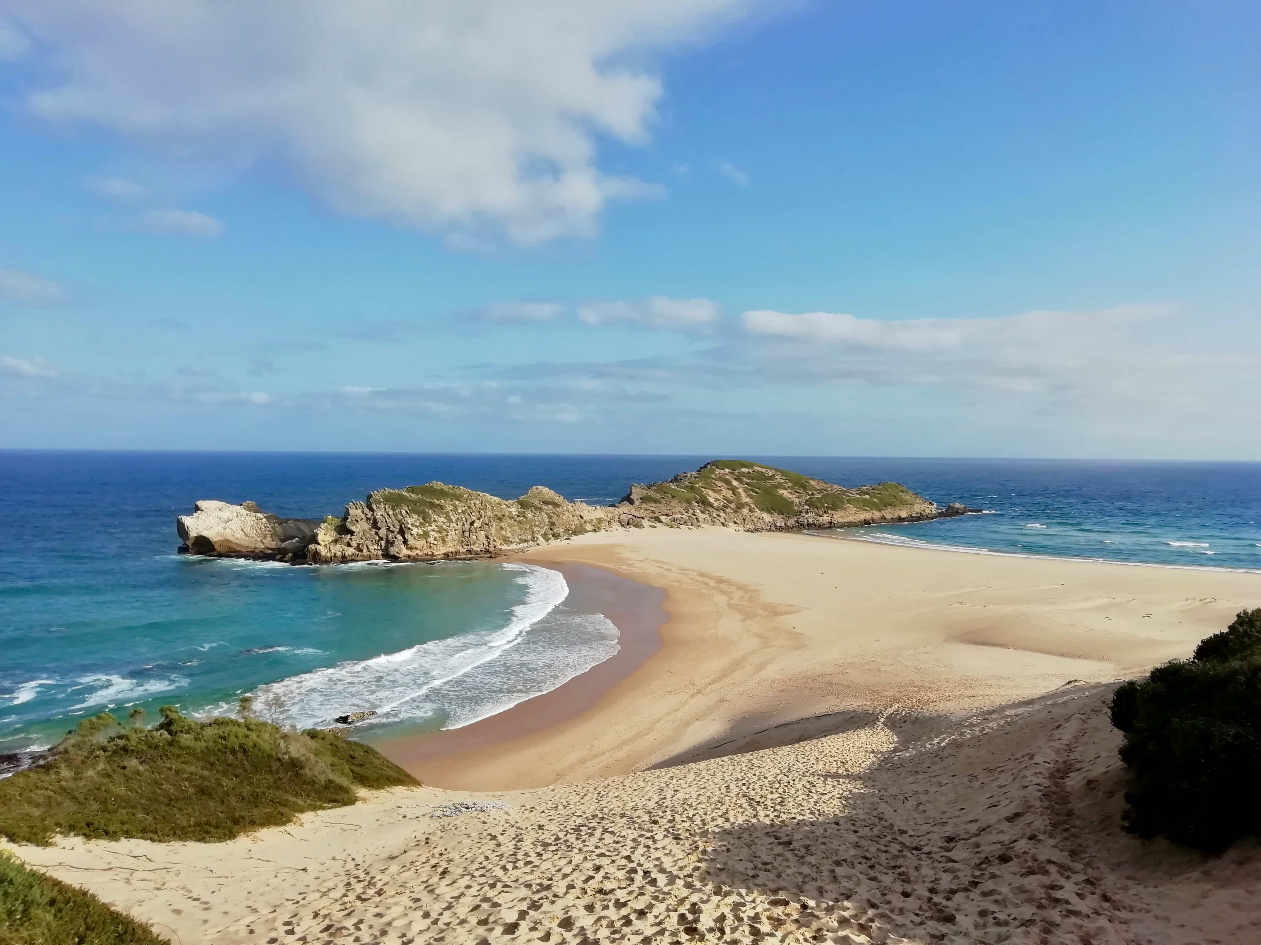 Robberg Nature Reserve beach and seagull nesting ground