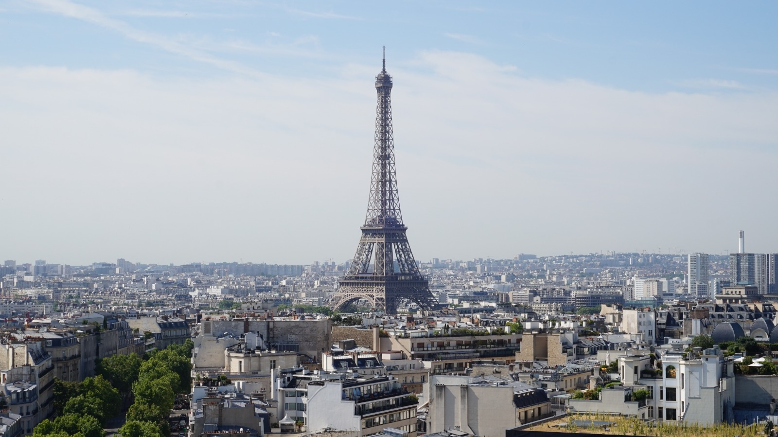 View of the Eiffel Tower from the Arc de Triomphe, Paris