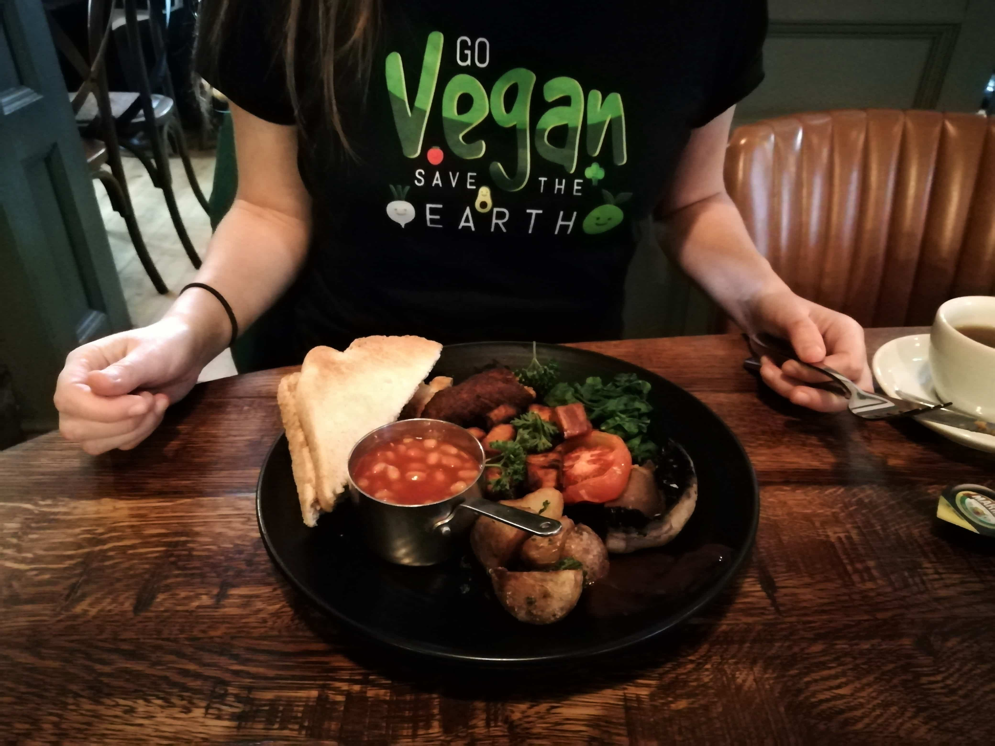 Vegan breakfast at The Head of the River Oxford