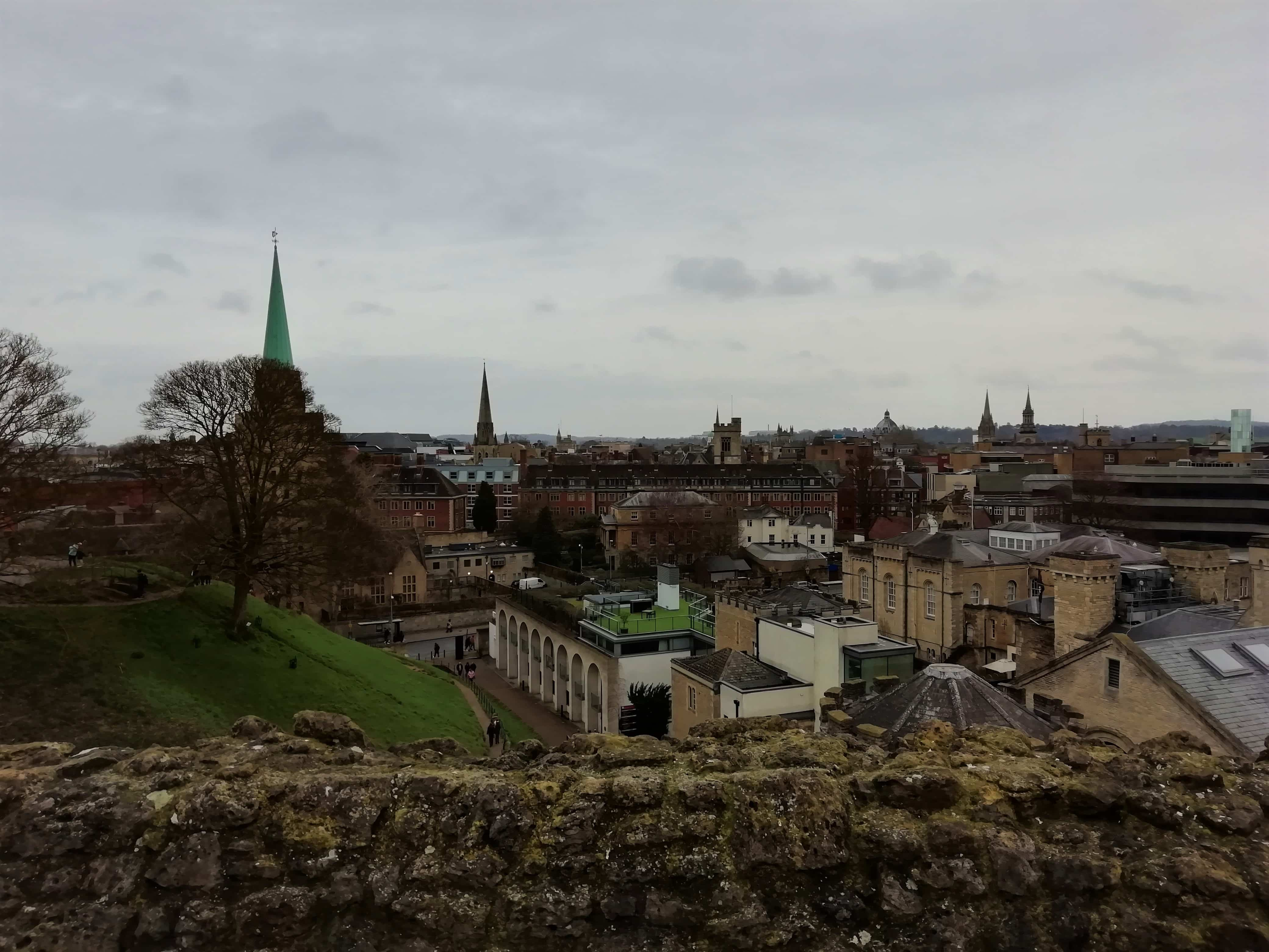 View over Oxford from the Castle Mound