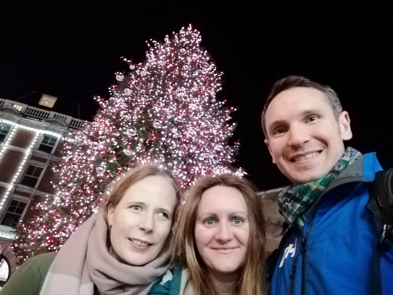 Us and the Christmas Tree in Covent Garden, 2019