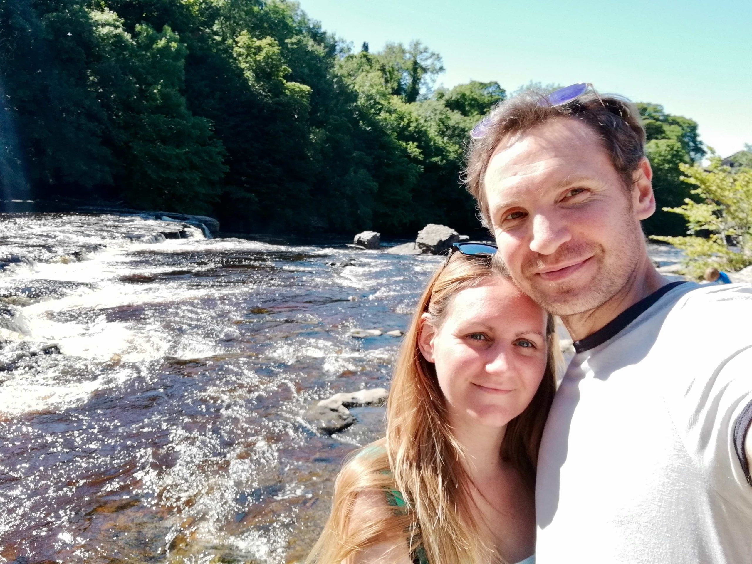Us at Aysgarth Falls, Yorkshire